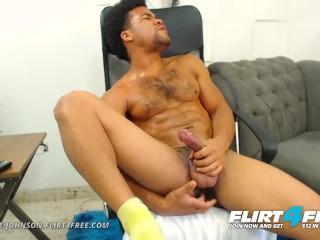 Antoine Johnson on Flirt4Free - Muscle Worship Big Uncut Cocked Latino Stud