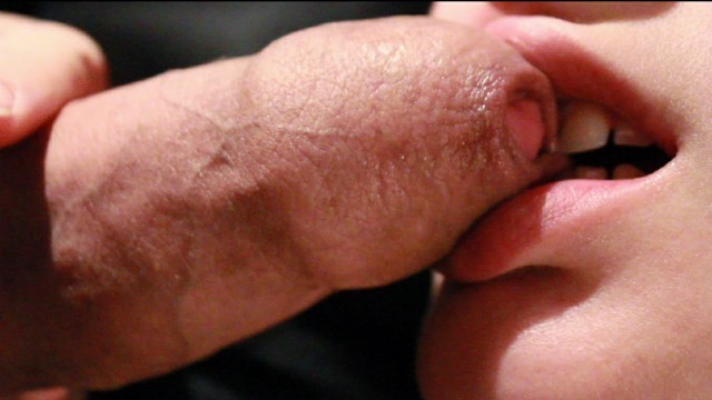 Soft Sloppy Foreskin (フェラ)blowjob and Licking up a Mouthful of Warm Cum