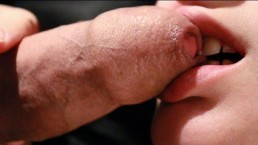 Soft Sloppy Foreskin Blowjob And Licking Up A Mouthful Of Warm Cum