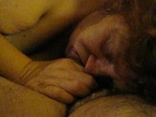 SSBBW Pammy Sparkles from NY, NY slurping on a dick