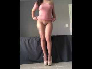 Watch me strip tease and squirt