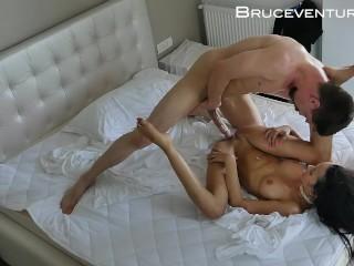 Deep Missionary Fucking and Cum on Big Boob Brazilian Pornstar