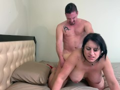 Horny Arab Brunette With HUGE Hanging Tits Gets Creampie Doggy
