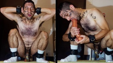 Marked-Up Chastity Fag Plows Hole