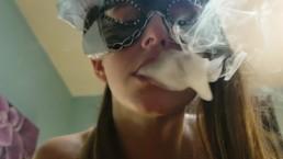 Pretty girl smoke for you bastard  (smoke fetish dirty talk)