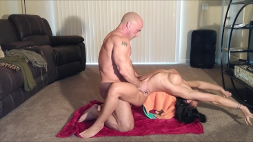 Naked yoga with my step sister