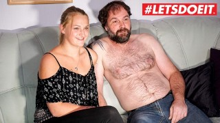 LETSDOEIT - German Amateur Teen Gets Fucked on Tape By Step Daddy!