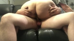 Riding his hard cock while hubby is out of town