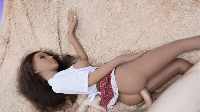 Silicon teens dolls Fucked schoolgirl and cum on skirt