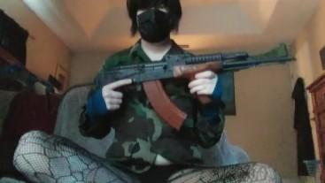 Shy Femboy Field Strips His AK