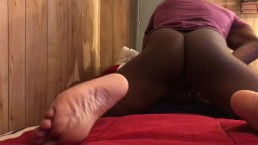 Black Cock Pounding Toy Pussy & Ass