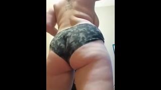 BBw bounces on dildo
