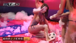 Brazzers - Soapy Soccer sluts get ass fucked in hot threesome Tits ass