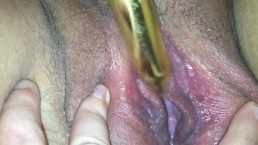 Girlfriend makes herself cum using bullet vibrator || up close orgasm