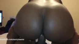 Bouncing this ass on daddy big dick