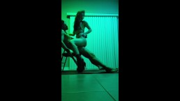 Epic ride from asian stripper in tight leggings