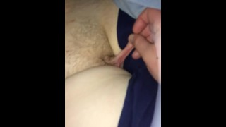 Pulling pussy lips