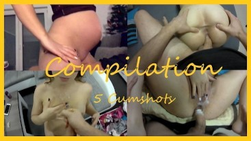 Pregnant couple Compilation Valentines Day 5 Cumshots
