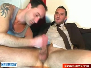 handsome innocent salesman neighbour serviced in spite of him.