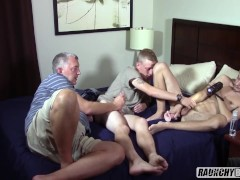 Older Man And His Favorite Teen Seduce First Timer Into Getting Fucked Bare