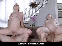 DaughterSwap - Two Teens Fucking Each Others Dads After Workout