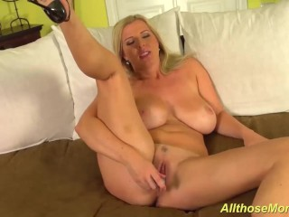big boob stepmom alone at home