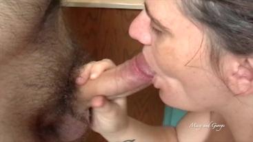 BBW Missy Gives Blowjob For Huge Facial