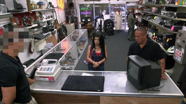 """XXX PAWN – Feisty Cuban Chick """"Estefania"""" Gets Her TV Broken"""