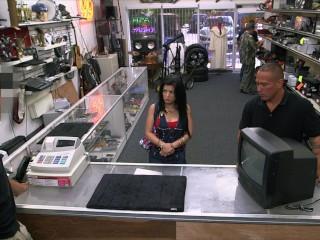 Sexy Downloed Fucking, XXX PAWN- Feisty Cuban Chick EstefaniA Gets Her TV Broken Big ass