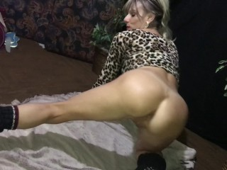 Wife in spiked heels posing for me!