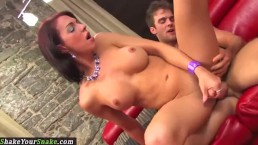 Bigtitted shemale plowed during spooning