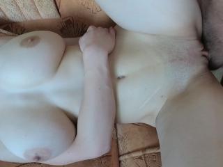 Great Big Tits Teen loves hard fucking – Cum on tits amateur POV