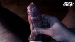 Crying precum and cumming a river