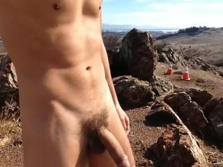 Nature edge on a California mountain.