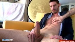 In suit salesman gets filmed horny for porn in spite of him