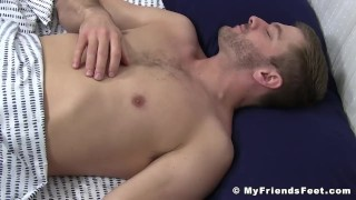 Cumming Sean Holmes wakes up during feet worship Azzurra fucked