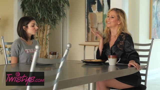 Mom and daughter lesbo tubes Twistys - step mom cherie deville gives her daughter some pussy for breakfe