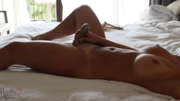 Wifey alone on the bed - Naughtysoulmates