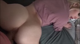 Thick Nerdy White Girl Gets A Creampie