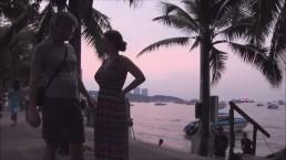 Pattaya Thailand Beach Road 25 Piercing hooker towed!