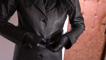 The leather coat