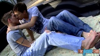 With feet drilling anal twinks skinny outdoor and sucking cumshot tattoo