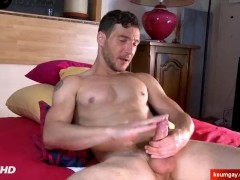 Sexy neighbour serviced in a gay porn in spite of him