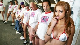 Angel Cummings Gets Revenge On Her BF With A Bunch Of White Dudes