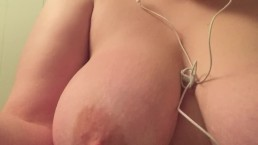 Sucking my delicous juices off my toy after teasing myself