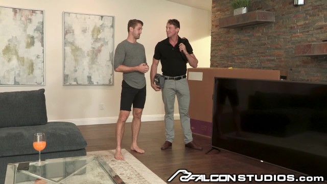 Free gay porn falcon studio Falconstudios hot cable man daddy his bulge is pretty big