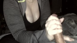 Amazing Handjob   Sexy Nails Tease A Hard Cock
