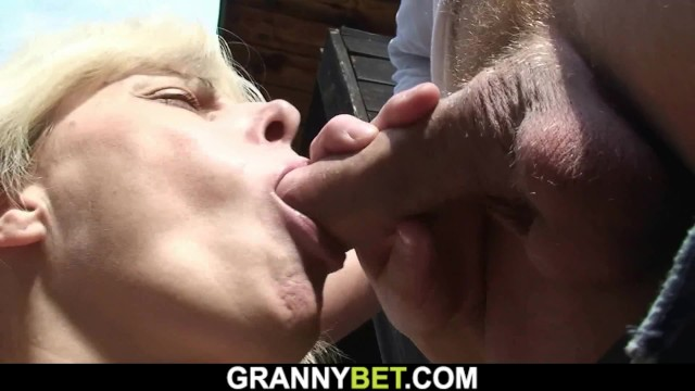 Lost bet guys sucking guys cock Guy fucks 70 years old blonde in the changing room