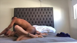 Ricky and Karma Rx have a hot fuck session at home (2 angles)