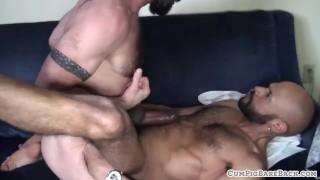 Mature Hunk Sucking Hard Cock On His Knees